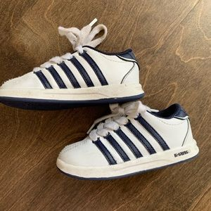 K-Swiss Toddler Boys Navy and White Shoes
